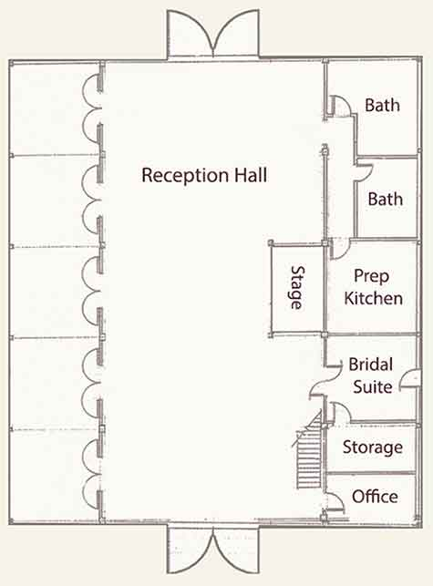 reception Barn Floorplan